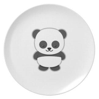 Cute Panda Bear Dinner Plates