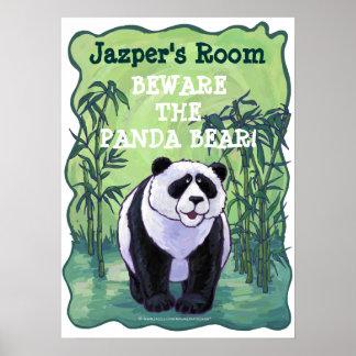 Cute Panda Bear Room Poster