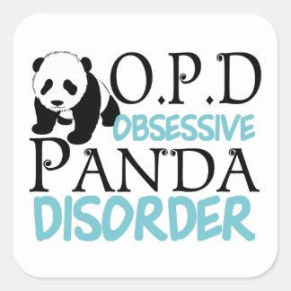 Cute Panda Bear Square Sticker