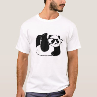 Cute Panda bear wearing glasses T-Shirt