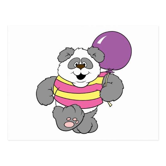 Cute Panda Bear with Balloon Postcard
