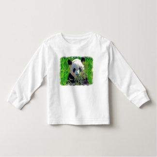 Cute Panda Bear with tasty Bamboo Leaves Toddler T-shirt