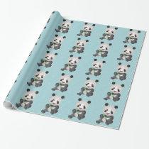 Cute Panda Bear Wrapping Paper