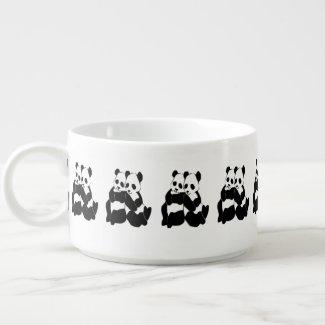 Cute Panda Bears Chili Bowl