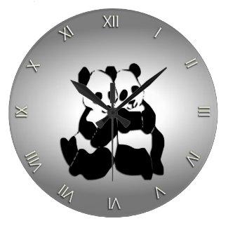 Cute Panda Bears Clock