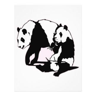 Cute Panda Bears Full Color Flyer