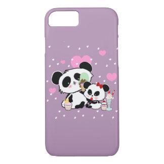 Cute Panda Bears Funny Personalized iPhone 8/7 Case