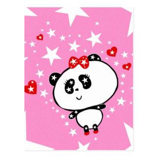 Cute Panda Bears Funny Personalized Postcard