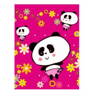 Cute Panda Bears Girly Gifts Kawaii Customizable Postcard