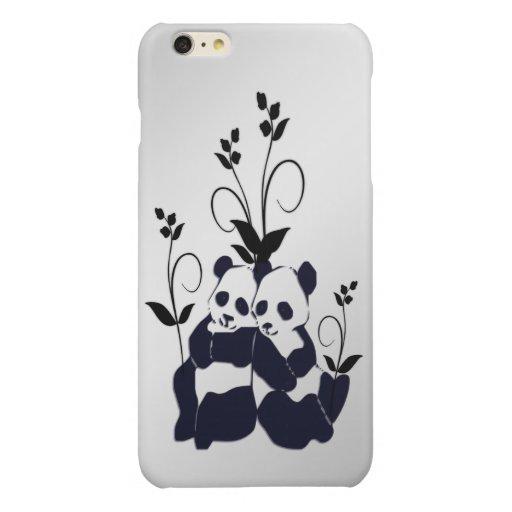 Cute Panda Bears Glossy iPhone 6 Plus Case