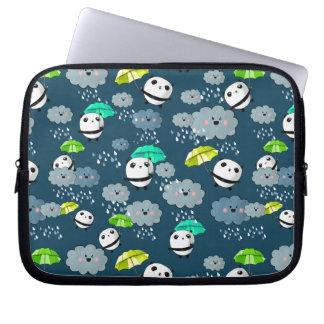 Cute Panda Bears Pattern Laptop Sleeve