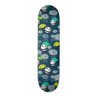 Cute panda bears pattern skate deck