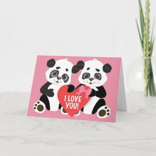 Panda Card Pun Card Valentine/'s Day Panda Gift Panda Valentine Blank Card Same Sex Card Galentine card Love Card Card for Her