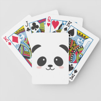 Cute Panda Bicycle Playing Cards