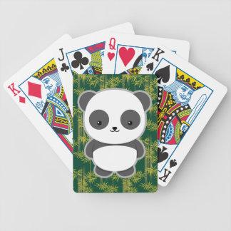 Cute Panda Bicycle Playing Cards
