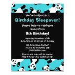 Cute Panda Birthday Sleepover Party Invitation
