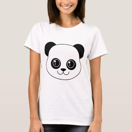 Cute Panda Black Licorice T-Shirt