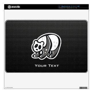 """Cute Panda; Black Decal For 11"""" MacBook Air"""