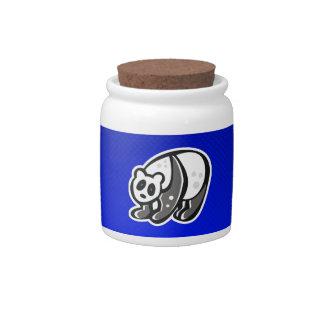 Cute Panda; Blue Candy Jar