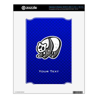 Cute Panda Blue NOOK Decals