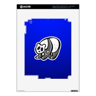Cute Panda; Blue Decal For iPad 3