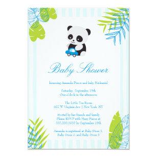 Baby panda invitations zazzle cute panda boy baby shower invitation filmwisefo