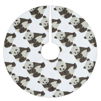 Cute Panda Brushed Polyester Tree Skirt