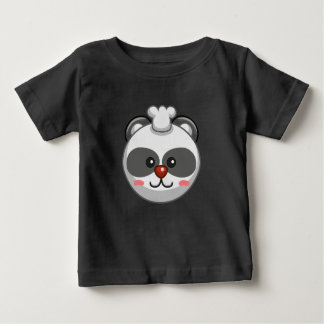 Cute Panda Character Black Customizable Baby Baby T-Shirt