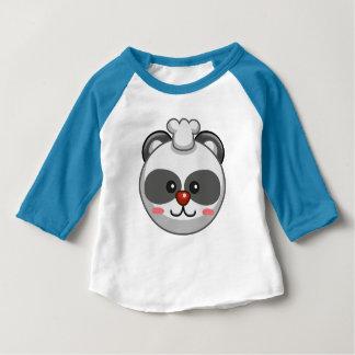 Cute Panda Character Blue Customizable Baby Baby T-Shirt
