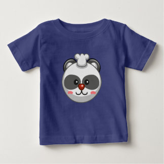 Cute Panda Character Blue Customizable Baby Baby T-Shirt