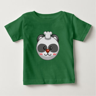 Cute Panda Character Green Customizable Baby Baby T-Shirt