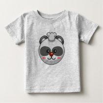 Cute Panda Character Grey Customizable Baby Baby T-Shirt