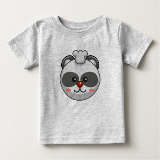 Cute Panda Character Grey Customizable Baby Baby T-Shirt