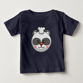 Cute Panda Character Navy Customizable Baby Baby T-Shirt