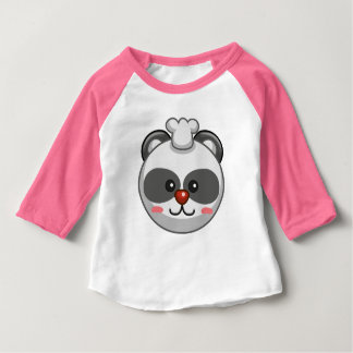 Cute Panda Character Pink Customizable Baby Baby T-Shirt