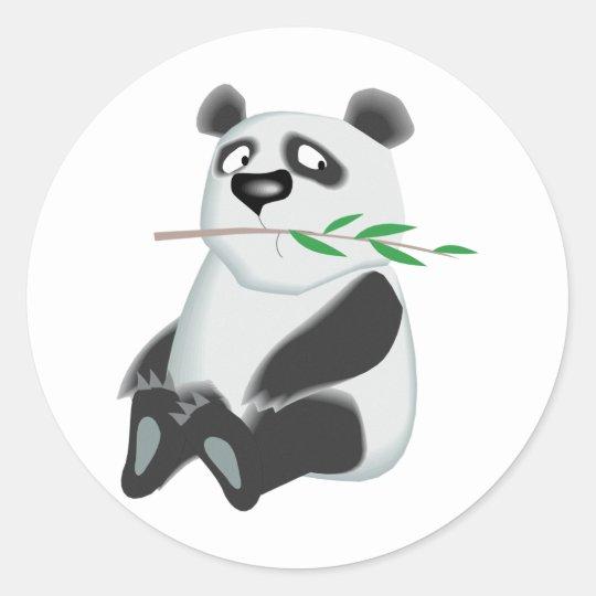 Cute Panda Classic Round Sticker