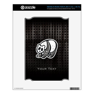 Cute Panda Cool Decal For NOOK
