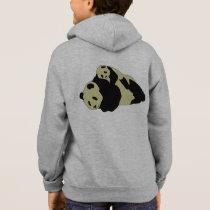 Cute Panda Cuddling With Baby Cub Hoodie