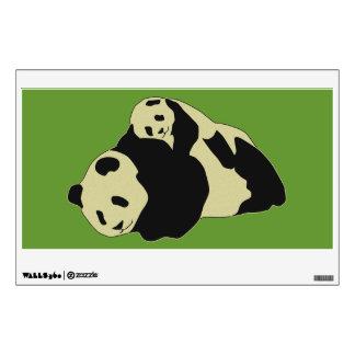 Cute Panda Cuddling With Baby Cub Wall Decal