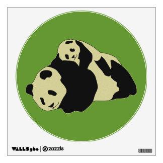Cute Panda Cuddling With Baby Cub Wall Sticker