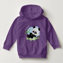 Cute Panda custom name clothing Hoodie