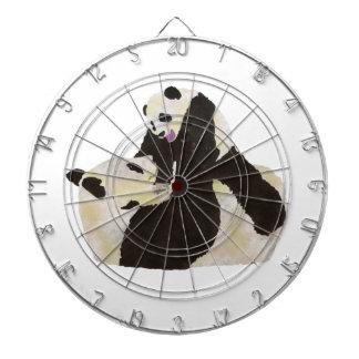 Cute Panda Dartboard With Darts