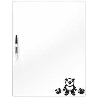 Cute Panda Deadlift Dry Erase White Board