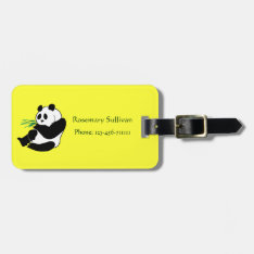 Cute Panda Distinctive Luggage Tag at Zazzle