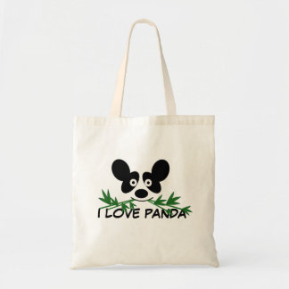 Cute Panda Eating Bamboo T-Shirt Bag