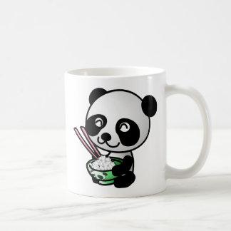 Cute Panda Eating Rice from Bowl with Chopsticks Coffee Mug