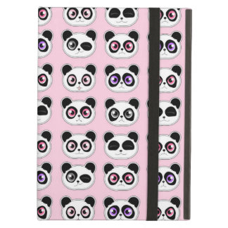 Cute Panda Expressions Pink Case For iPad Air