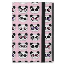 Cute Panda Expressions Pink iPad Mini Covers