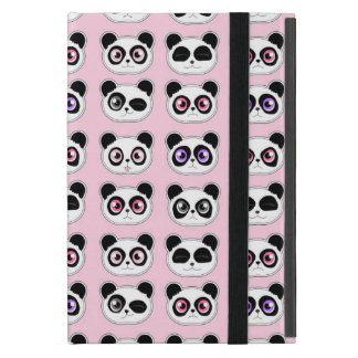 Cute Panda Expressions Pink iPad Mini Covers