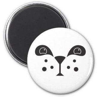 Cute Panda Face 2 Inch Round Magnet